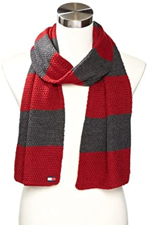 Tommy Hilfiger Men's Reversible Flat Block Scarf汤米男式围巾蓝色$29.99