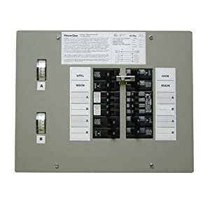GenTran 501210 Powerstay 12-Circuit 50 Amp Transfer Switch for up to 12