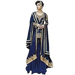 Vasu Saree Navy Blue Georgette Gracious Anarkali Salwar Suit