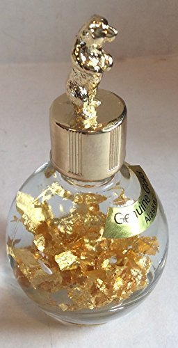 alaska-24k-gold-flakes-in-1-oz-miners-assay-bottle-with-bear-top-by-souvenier