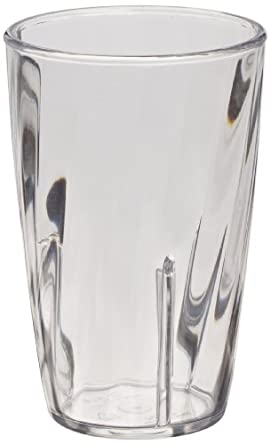 Carlisle 4366507 Swirl Tumbler, 10 oz, Clear, Polycarbonate (Case of 36)