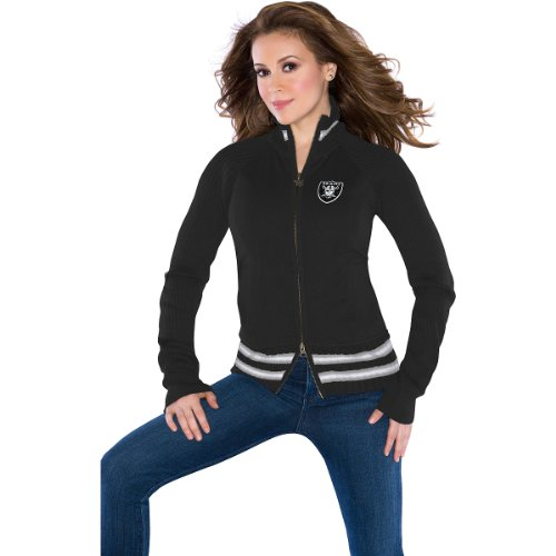 Touch by Alyssa Milano Oakland Raiders Women's Sweater Mix Jacket Extra Small at Amazon.com