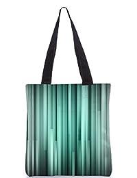 Snoogg Black And Grey Strips Digitally Printed Utility Tote Bag Handbag Made Of Poly Canvas - B01C8LYY4Q