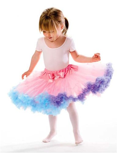 Pretty Child Twirling Tutu RAINBOW Petticoat Awesome for dress-up, dance & costumes!