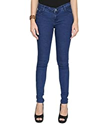 Azores Women's Slim Jeans (2_30_Blue_X-Small)