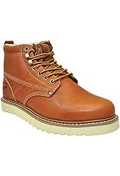 Golden Fox Oil Full Grain Leather Plain Toe with Lightweight Work Boot