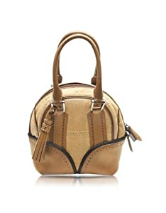 Pineider 1774 Limited Edition Micro Leather Bowling Bag Beige by Pineider