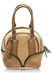 Pineider 1774 Limited Edition Micro Leather Bowling Bag Beige