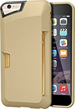 "iPhone 6 Plus Wallet Case - Vault Slim Wallet for iPhone 6 Plus (5.5"") by Silk - Ultra Slim Protective Credit Card Carrying Cover (Champagne Gold)"