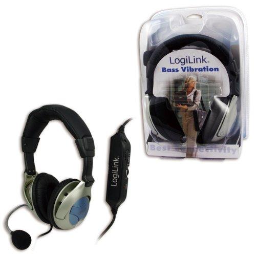 LogiLink Stereo Headset mit Bassvibration
