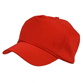 Cotton Twill Golf Cap - Red