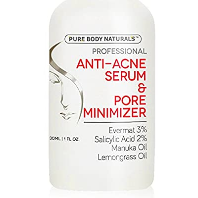Acne Treatment for Face & Pore Minimizer Serum - Dermatologist Tested Product, Made with Revolutionary Evermat® - 1 oz
