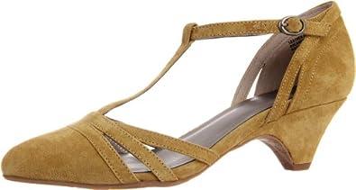 BC Footwear Women's Cool as a Cucumber T-Strap Pump,Mustard,10 M US
