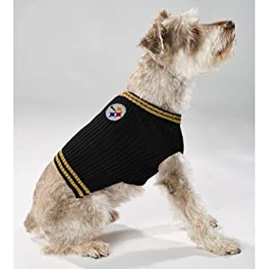 Pittsburgh Steelers V Neck Dog Pet Sweater NFL All Sizes (Large)