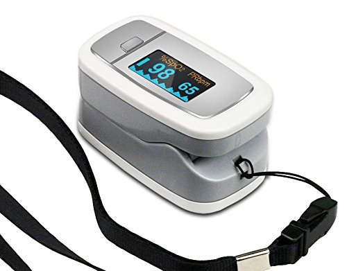 Easy@Home Fingertip Pulse Oximeterwith Luxury Dual-Color OLED Displayin