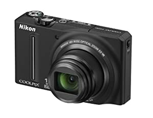 Nikon COOLPIX S9100 Compact Digital Camera - Black (12.1MP, 18x Optical Zoom) 3 inch LCD