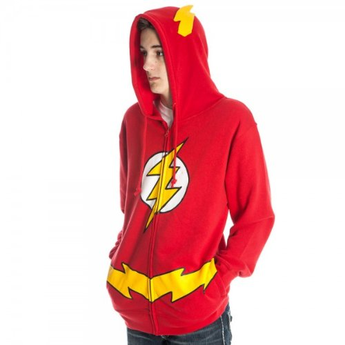 The Flash Adult Red Costume Hoodie Sweatshirt