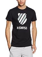 K Swiss Camiseta Manga Corta Ks K II (Negro)
