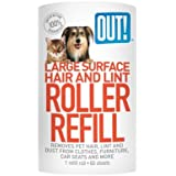 Out! 60-Sheet Hair and Lint Remover Surface Refill, Large