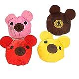 More RM 5PCS/Lot Reusable Foldable Strawberry bag Several Colors Shopping Bag(5pc bear)
