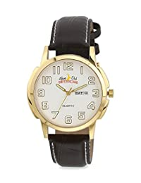 ALPINE CLUB SWITZERLAND 007 SIL BRW GLD MEN'S WATCH BY SWISS MILITARY