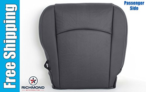 2012 Dodge Ram 2500 Laramie Crew-Cab - Passenger Bottom Replacement Leather Seat Cover: Dark Gray (Dodge Ram 2500 Seat Cushion compare prices)