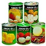南国 フルーツ 缶詰 5種類セット (ランブータン ランブータン&パイン 龍眼(ロンガン) ライチ ジャックフルーツ)