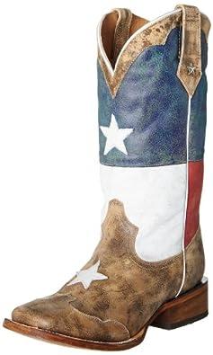 Roper Men's Texas Flag Western Boot,Red/White/Blue,8.5 M US