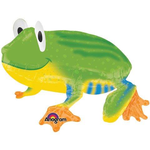 Friendly Froggy Airwalker Foil Balloon Party Accessory