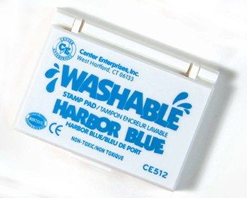 Stamp Pad Washable Harbor Blue -- Case of 7