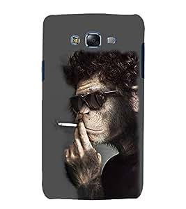 printtech Cool Monkey Smoke Back Case Cover for Samsung Galaxy E7 / Samsung Galaxy E7 E700F