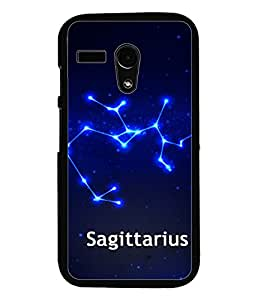 PrintDhaba Zodiac Sagittarius D-2804 Back Case Cover for MOTOROLA MOTO G (Multi-Coloured)