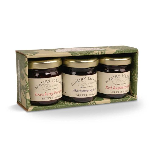 Gourmet Jam & Preserves 3-Jar Sampler Pack -
