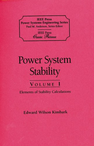Power System Stability, Volumes I, Ii, Iii: (An Ieee Press Classic Reissue, Paper Edition, 3 Volume Set)