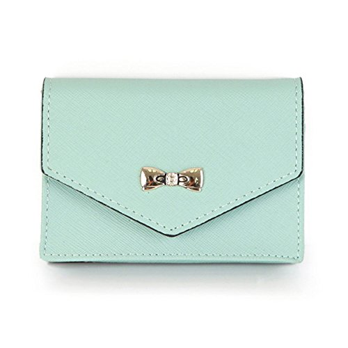 Genuine Leather Marianne Name Card Case Wallet Useful Business Card Case Wallets Small Purse (Mint)