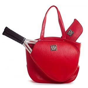 Court Couture, Cassanova Epi Red Tennis Bag by Court Couture