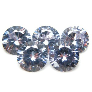 Round 9mm Lavender CZ Cubic Zirconia Loose Stone Lot of 50 Pieces