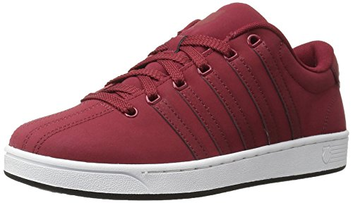 K-Swiss Men's Court Pro II ReflectiveCMF Fashion Sneaker, Biking Red/Black, 10.5 M US
