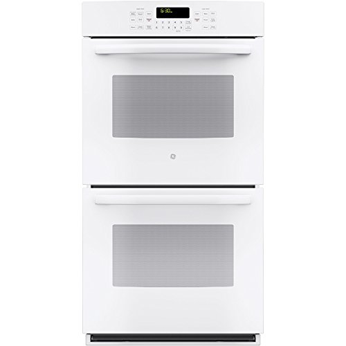 """GE 27"""" Built-In Double Electric Convection Wall Oven White-on-White JK5500DFWW"""