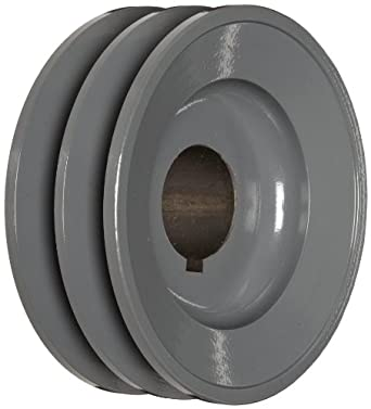 "TB Woods 2BK50138 FHP Bored-To-Size, 4.75"" Outside Body Diameter, 1.375"" Bore Diameter V-Belt Sheave"