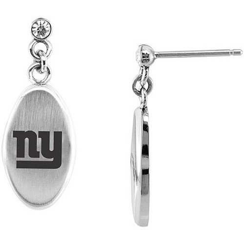 Team Titanium New York Giants Steel Drop Earring