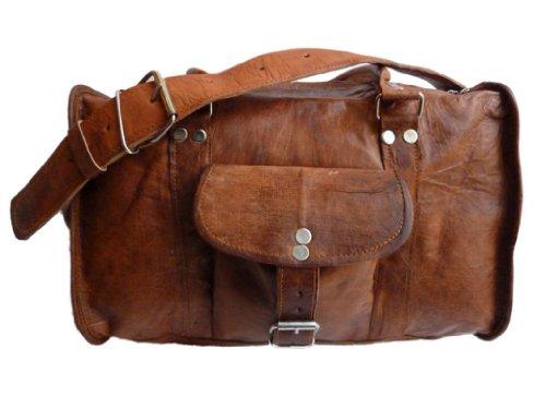 Gusti Genuine Leather Travel Bag Camera Bag Sports Gym Bag Vintage Satchel Shoulder Bag Holdall Duffel Bag Unisex R5