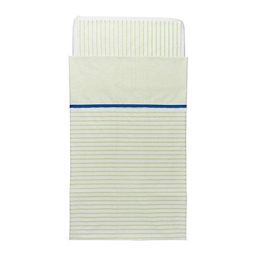 Ikea Skamtsam Crib Duvet Cover / Pillowcase, Green