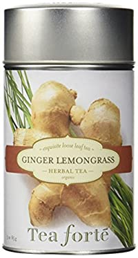 Tea Forte GINGER LEMONGRASS Loose Leaf Organic Herbal Tea, 3 Ounce/85 g Tea Tin