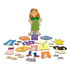 Melissa and Doug Princess Elise and Maggie Leigh Magnetic Dress-Up Bundle