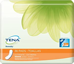Tena Serenity Pads, Ultimate, 36 Count
