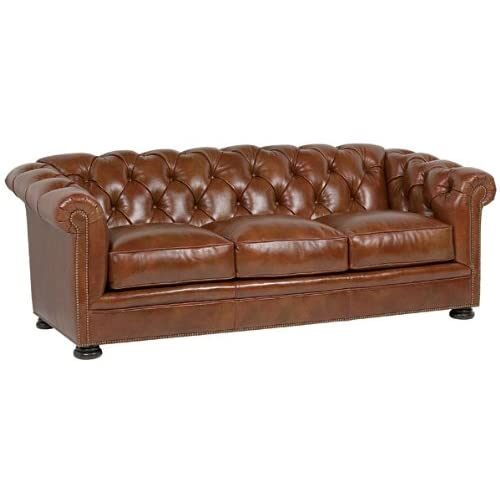 Tufted leather couch for Tufted leather sleeper sofa