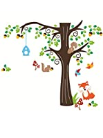 Ambiance Sticker Vinilo Decorativo Nut Tree And Fox