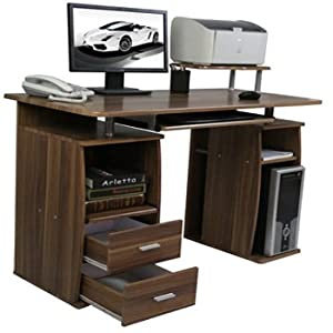 Ksm Branded walnut Computer desk with drawers for use of Home