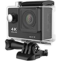 iPM 4K Ultra HD 12MP Action Camera with WiFi and Waterproof Case (Black)